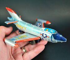 U.S. Navy F3H-2 Demon Fighter Jet Aeroplane Vintage 1950's Tin Toy Made In Japan