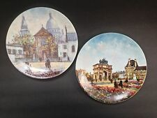 Two Porcelain Limoges France Louis Dali Collector Plates With COA - Excellent