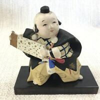 Vintage Hand Painted Japanese Boy Figure Gofun Clay HINAMATSURI Doll Day