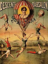 ADVERT EXHIBITION CIRCUS MISS STENA TRAPEZE ACROBAT HAIR STRANGE PRINT LV776