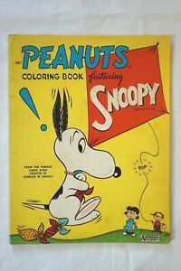 Vintage Saalfield Peanuts Coloring Book Featuring Snoopy 1667 Used 1960s Early