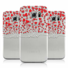 PERSONALISED HEARTS CONFETTI & WHITE NAME PHONE CASE COVER FOR SAMSUNG GALAXY