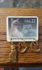 Siamese, Exotic Shorthair Cat 22 Cent Stamp Pin/Brooch