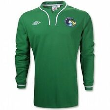 NEW YORK COSMOS UMBRO MLS TOP sz LB 30/31 GREEN JERSEY AUTHENTIC FOOTBALL