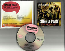 SIMPLE PLAN Welcome to my life w/ ACOUSTIC VERSION PROMO DJ CD single 2004