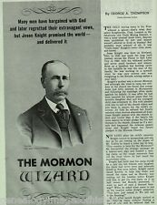 "Mormon Wizard ""Uncle Jesse"" Knight +Leatham, Mansfield, Roundy, Thompson"