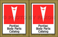 Pontiac Master Body Parts Book 1963 1964 1965 1966 1967 Illustrated Catalog
