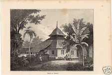 Antique print moskee Amboina  Ambon Nederlands Indië