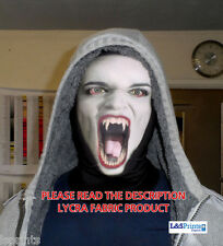 WHITE VAMPIRE FACE DESIGN HALLOWEEN FULL FACE MASK HORROR FANCY DRESS LYCRA