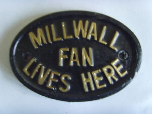 MILLWALL  LIONS FAN  FOOTBALL PLAQUE SIGN