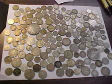 MIXED FOREIGN WORLD SILVER COINS  417  GRAMS SILVER LOT , SOME 1800 's