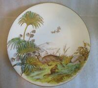 Antique SYLVAN THE AUSTRALIAN BUSH W B & SON c 1875 Lozenge Mark Cabinet Plate!