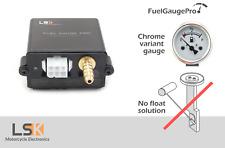 FuelGaugePro Analog - Chrome - Universal Float free motorcycle fuel gauge meter