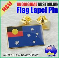 One (1) Aboriginal Australian Flag Hat Tie Lapel Pin Souvenir Support Gift