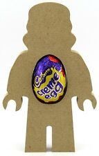 Brick Man With Helmet Freestanding MDF Easter Creme Egg Holder Craft 18mm Thick