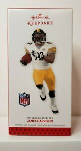 2013 Hallmark Ornament James Harrison Pittsburgh Steelers Football NFL Keepsake