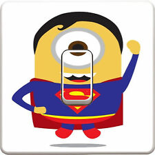 Disney Superman Minions Light Switch Vinyl Sticker Decal for Kids Bedroom #26