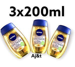 Nivea Natural Oil Shower Oil For Dry Skin  Pampering 3 X 200