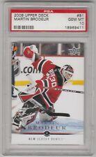 2008-09 Martin Brodeur Upper Deck #81 NJ Devils Hockey Card PSA 10 Gem Mint