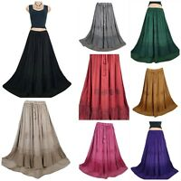 Plus Size Maxi Skirt Medieval Renaissance Embroidered One Size 14 16 18 20 22 24