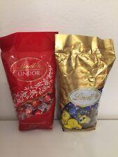 LINDT Lindor Rot Kugeln Vollmilch Schokolade + Pralinés Mischung 2 Beutel 1,35kg