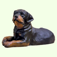 Large Dog Sculpture Rottweiler Statue Puppy Outdoor Garden Figurine Yard Pet