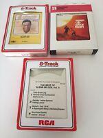 8 Track Cassette Tapes Lot Of 3 Glenn Miller Nat King Cole Open Your Heart