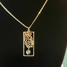 Necklaces & Pendants Brave Joan Rivers Gold Chain Turquoise Color Necklace Pendant Spring Summer Statement Jewelry & Watches
