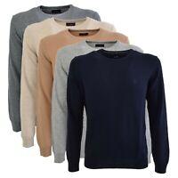 Maglioncino Conte of Florence girocollo manica lunga maglia maglione lana Fabbri