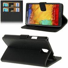 Book Tasche Litchi in schwarz für Samsung N9000 Galaxy Note 3 mit Aufstellfunkt.