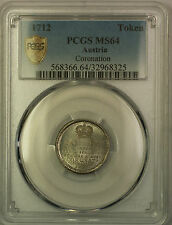 1712 Austria Coronation Token PCGS MS-64 Very Choice BU