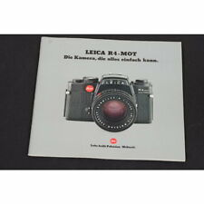 Prospekt - Leitz/Leica - Leica R4-MOT - la Appareil Photo, la Simple Tout Peut