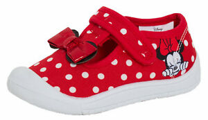 Minnie Mouse Canvas Shoes Toddler First Walkers Pumps Girls Disney Trainers