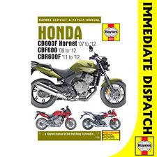 [5572] Honda CB600 Hornet CBF600 CBR600F 2007-12 Haynes Workshop Manual