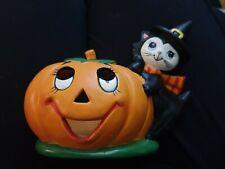 Lefton Halloween pumpkin planter