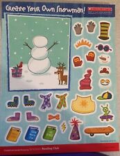 NEW Create Your Own Snowman Scholastic Craft Activity Sheet of Reusable Stickers