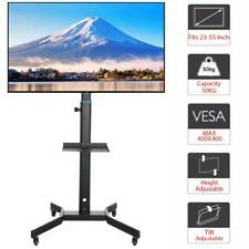 "Portable Mobile 23""-55"" /LCD/LED TV Cart Floor Stand Mount Home Display Trolley"