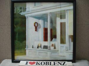 "Edward Hopper ""7 A.M."" 1948 - Kunstdruck gerahmt Holzrahmen & Glas -p387"