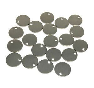 hypoallergenic 304 stainless steel round disk charms 10mm stamping blank