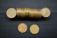 Full Roll of 50 UNCLEANED Wheat Penny Cent 1947 D