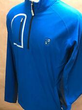 NWT! - Peter Millar Mens MF18EK89 Blue 1/4 Zip Pullover Size M Was $145