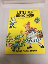 Vintage Little Red Riding Hood: A Story By Perrault A Giant Fairy Story