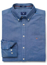 Gant Shirt The Oxford Mens Denim Blue Long Sleeve Top XL