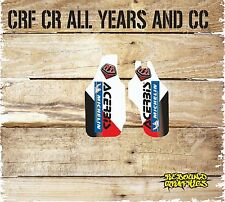 HONDA CR CRF 85 125 150 250 450 LOWER FORKGUARD DECALS STICKERS-GRAPHICS-WHITE