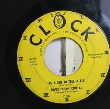 """50'S & 60'S 45 Dave """"Baby"""" Cortez - Its A Sin To Tell A Lie / Piano Shuffle On C"""
