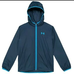 Under Armour Lightweight Wind Rain Jacket Sackpack Boys Youth X Small YXS