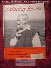 RARE Saturday Review August 23 1958 ERNEST HEMINGWAY JOHN STEINBECK