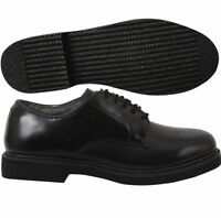 "Black OXFORD Dress Shoes Soft Sole ""COMFORTABLE"" ARMY NAVY Uniform Rothco 5085"