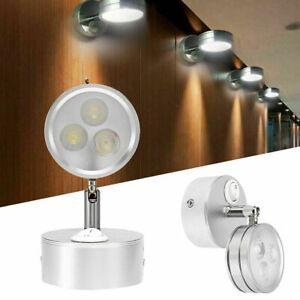 3W LED Wall Lights Ceiling Spotlight Bedside Reading Indoor Lamp Adjustable