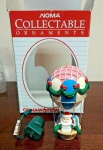 Noma Rotating Ornamotion Christmas Ornament Santa's Hot Air Balloon 1989
